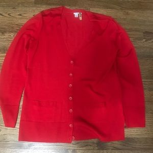 Halogen Red Cardigan Size L